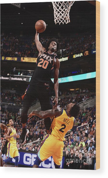 Sports Ball Wood Print featuring the photograph Josh Jackson by Michael Gonzales