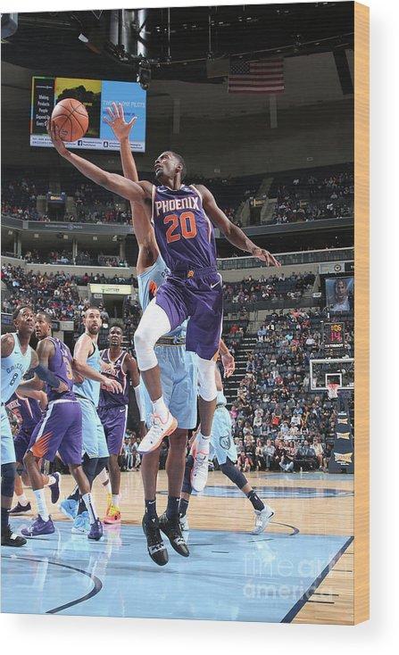 Nba Pro Basketball Wood Print featuring the photograph Josh Jackson by Ned Dishman
