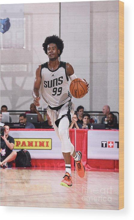 Nba Pro Basketball Wood Print featuring the photograph Josh Jackson by Noah Graham