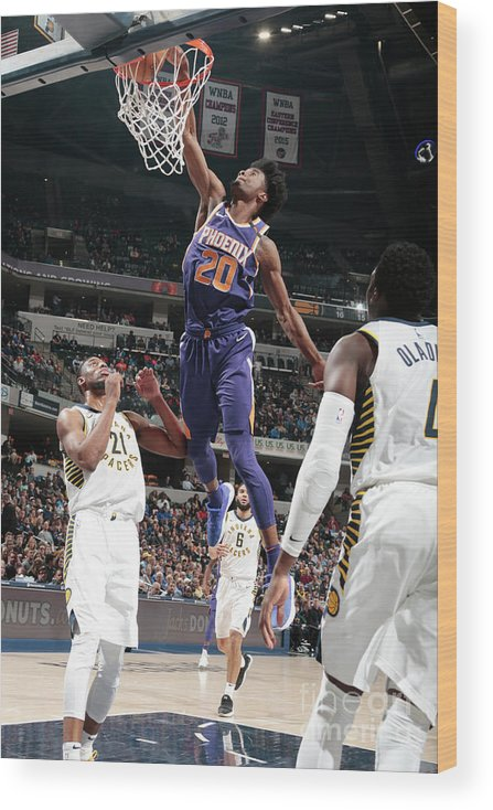 Nba Pro Basketball Wood Print featuring the photograph Josh Jackson by Ron Hoskins