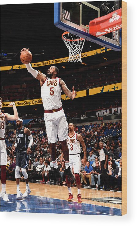 Nba Pro Basketball Wood Print featuring the photograph J.r. Smith by Gary Bassing