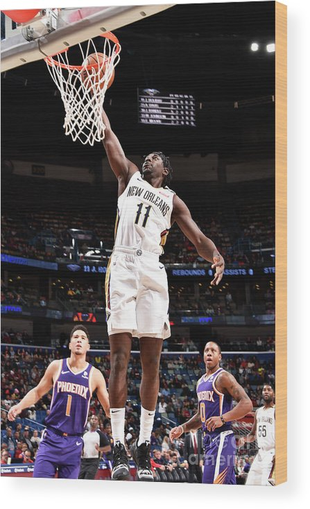 Smoothie King Center Wood Print featuring the photograph Jrue Holiday by Bill Baptist