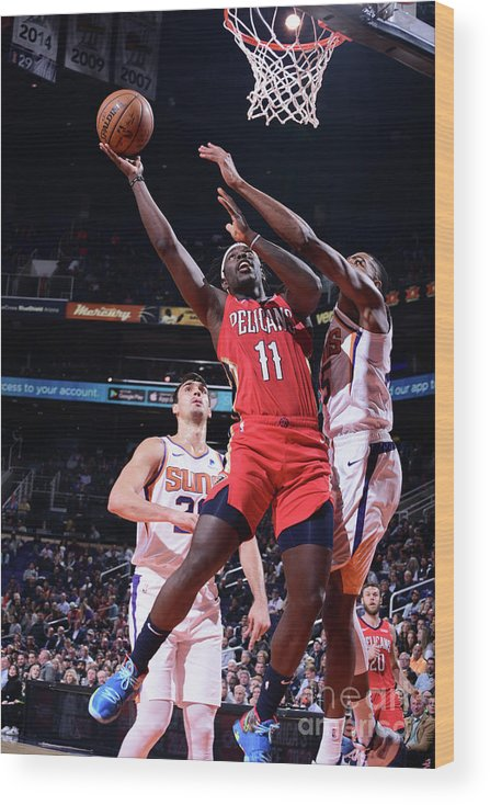 Nba Pro Basketball Wood Print featuring the photograph Jrue Holiday by Michael Gonzales
