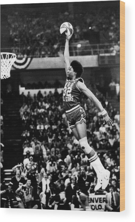 Mcnichols Sports Arena Wood Print featuring the photograph Julius Erving by Nba Photos