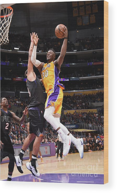 Nba Pro Basketball Wood Print featuring the photograph Julius Randle by Andrew D. Bernstein