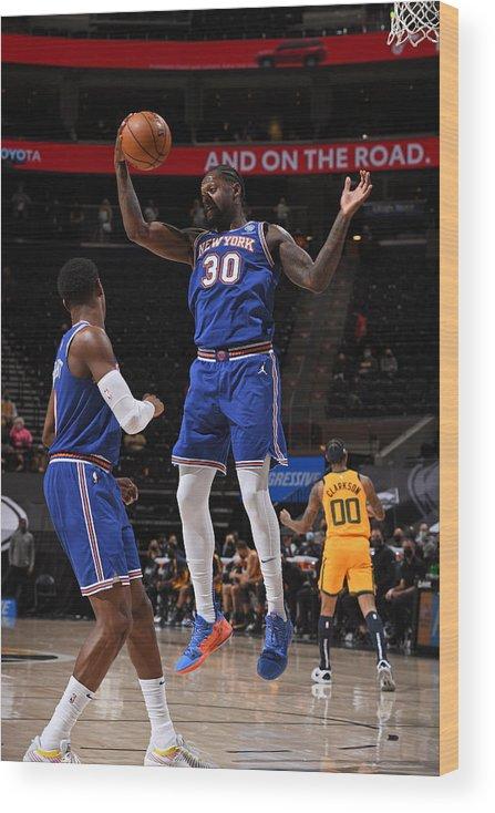 Nba Pro Basketball Wood Print featuring the photograph Julius Randle by Garrett Ellwood
