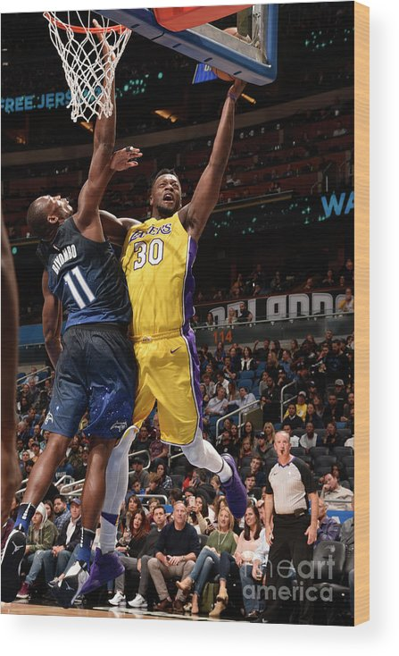 Nba Pro Basketball Wood Print featuring the photograph Julius Randle by Gary Bassing