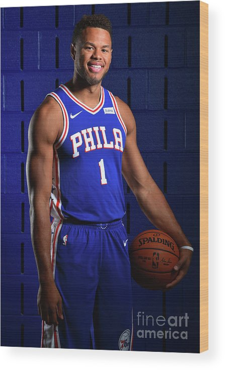 Media Day Wood Print featuring the photograph Justin Anderson by Jesse D. Garrabrant