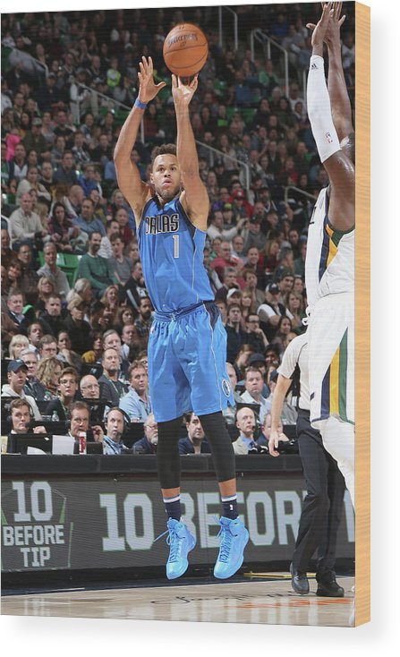 Nba Pro Basketball Wood Print featuring the photograph Justin Anderson by Melissa Majchrzak