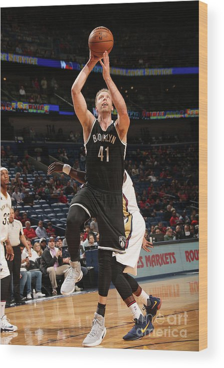 Smoothie King Center Wood Print featuring the photograph Justin Hamilton by Layne Murdoch