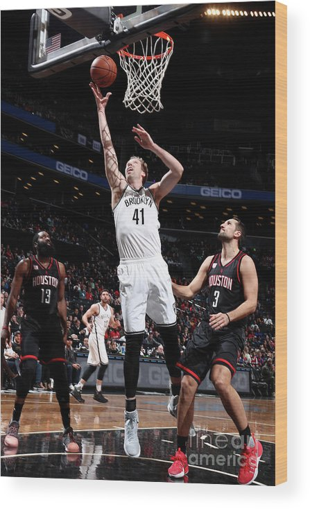 Nba Pro Basketball Wood Print featuring the photograph Justin Hamilton by Nathaniel S. Butler
