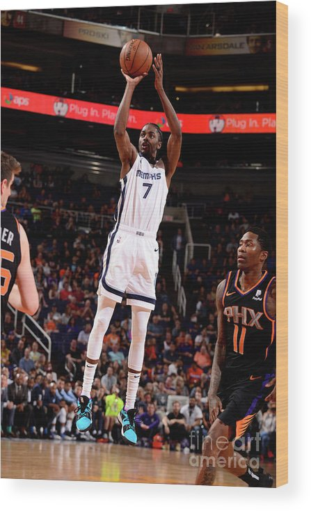 Nba Pro Basketball Wood Print featuring the photograph Justin Holiday by Barry Gossage