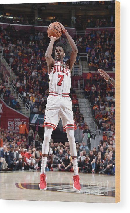 Nba Pro Basketball Wood Print featuring the photograph Justin Holiday by David Liam Kyle