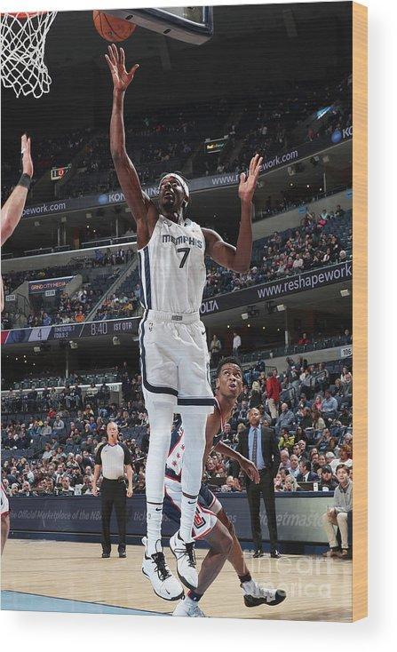 Nba Pro Basketball Wood Print featuring the photograph Justin Holiday by Joe Murphy