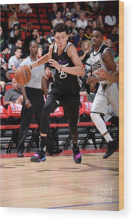 Nba Pro Basketball Wood Print featuring the photograph Justin Jackson by David Dow
