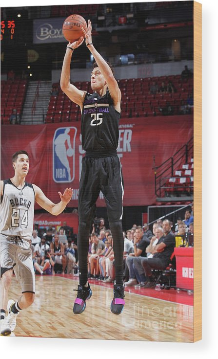 Nba Pro Basketball Wood Print featuring the photograph Justin Jackson by Jack Arent