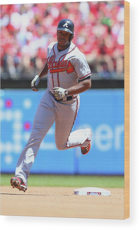 Individual Event Wood Print featuring the photograph Justin Upton by Dilip Vishwanat