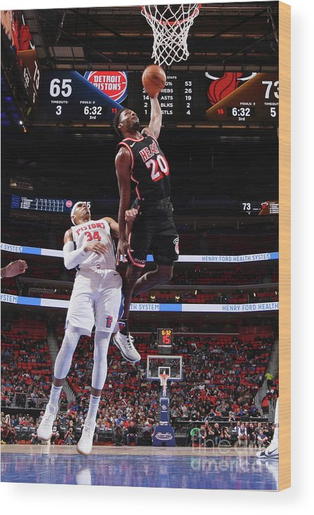 Justise Winslow Wood Print featuring the photograph Justise Winslow by Brian Sevald