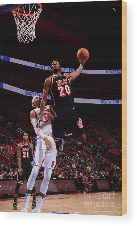 Justise Winslow Wood Print featuring the photograph Justise Winslow by Chris Schwegler
