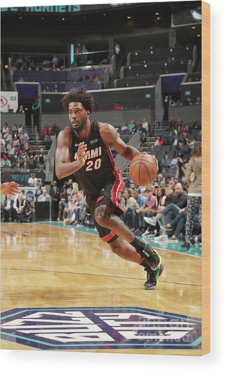 Justise Winslow Wood Print featuring the photograph Justise Winslow by Kent Smith