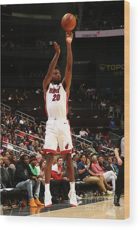 Atlanta Wood Print featuring the photograph Justise Winslow by Kevin Liles