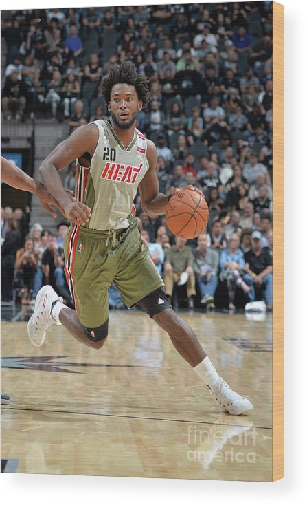Justise Winslow Wood Print featuring the photograph Justise Winslow by Mark Sobhani