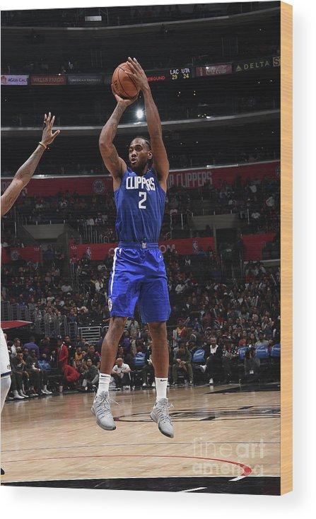 Nba Pro Basketball Wood Print featuring the photograph Kawhi Leonard by Adam Pantozzi