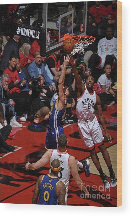 Playoffs Wood Print featuring the photograph Kawhi Leonard and Klay Thompson by Garrett Ellwood