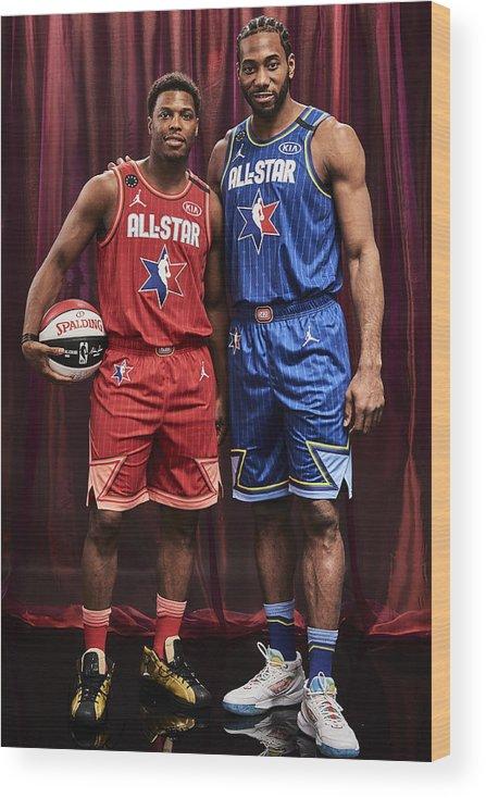 Nba Pro Basketball Wood Print featuring the photograph Kawhi Leonard and Kyle Lowry by Jennifer Pottheiser
