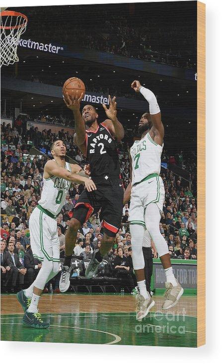 Nba Pro Basketball Wood Print featuring the photograph Kawhi Leonard by Brian Babineau