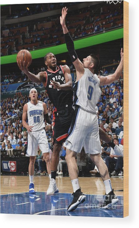 Playoffs Wood Print featuring the photograph Kawhi Leonard by Gary Bassing