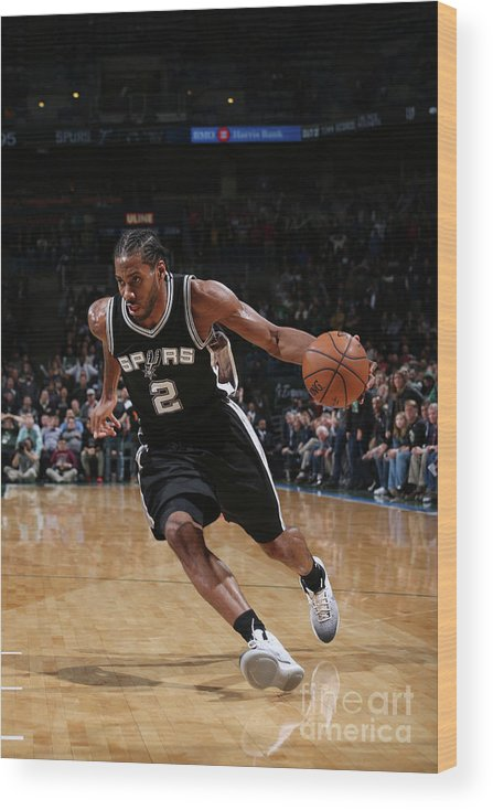 Nba Pro Basketball Wood Print featuring the photograph Kawhi Leonard by Gary Dineen