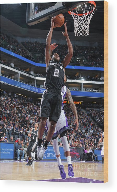 Nba Pro Basketball Wood Print featuring the photograph Kawhi Leonard by Rocky Widner