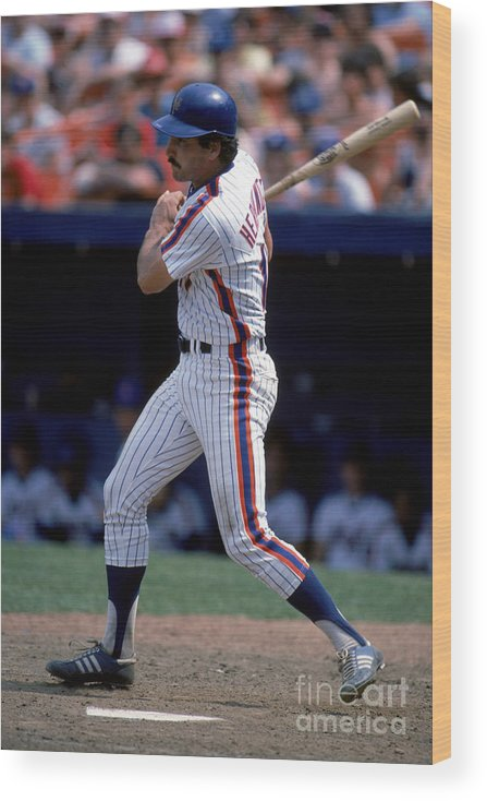 1980-1989 Wood Print featuring the photograph Keith Hernandez by Rich Pilling