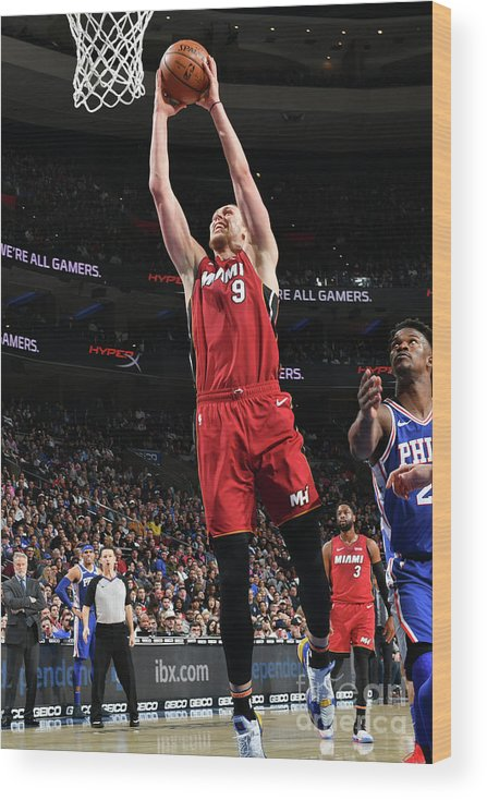 Nba Pro Basketball Wood Print featuring the photograph Kelly Olynyk by Jesse D. Garrabrant