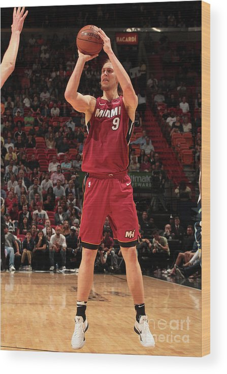 Sports Ball Wood Print featuring the photograph Kelly Olynyk by Oscar Baldizon