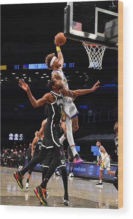 Nba Pro Basketball Wood Print featuring the photograph Kelly Oubre and Kevin Durant by Jesse D. Garrabrant