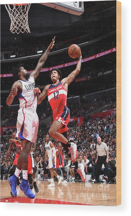 Nba Pro Basketball Wood Print featuring the photograph Kelly Oubre by Andrew D. Bernstein