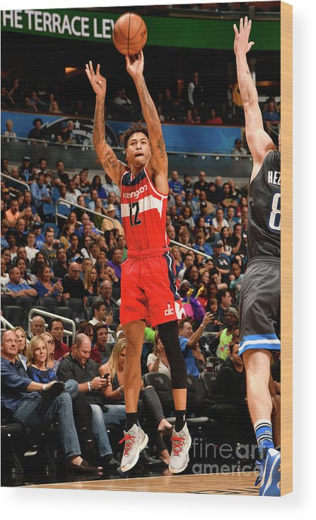 Nba Pro Basketball Wood Print featuring the photograph Kelly Oubre by Fernando Medina