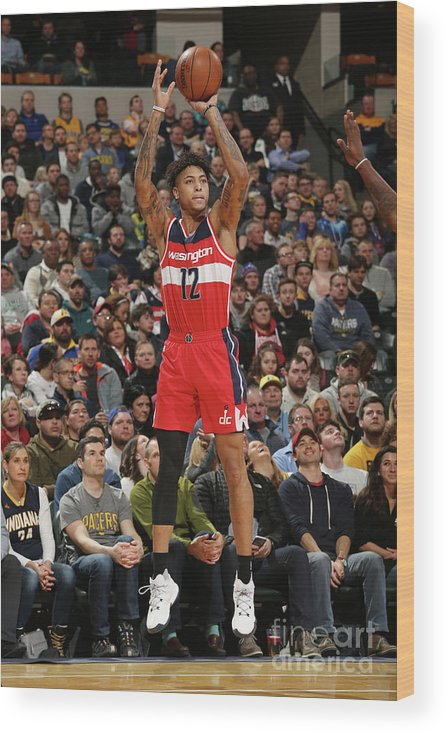 Nba Pro Basketball Wood Print featuring the photograph Kelly Oubre by Gary Dineen
