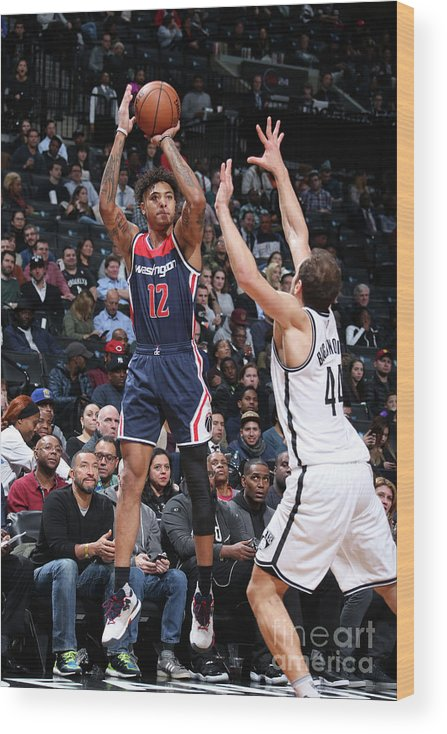 Nba Pro Basketball Wood Print featuring the photograph Kelly Oubre by Nathaniel S. Butler