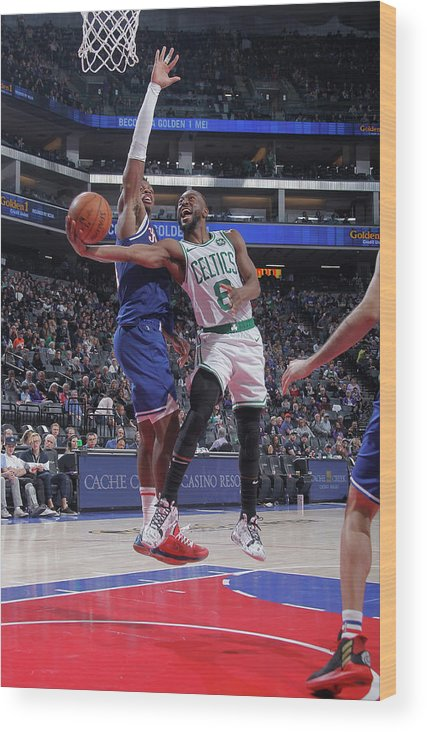 Kemba Walker Wood Print featuring the photograph Kemba Walker and Buddy Hield by Rocky Widner