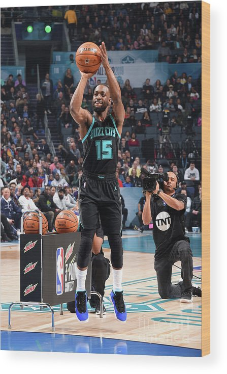 Kemba Walker Wood Print featuring the photograph Kemba Walker by Andrew D. Bernstein