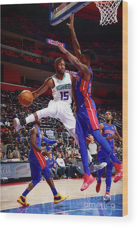 Kemba Walker Wood Print featuring the photograph Kemba Walker by Chris Schwegler
