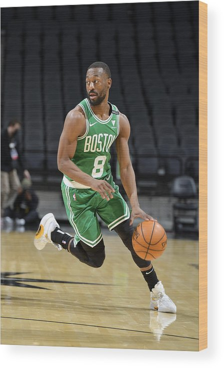 Kemba Walker Wood Print featuring the photograph Kemba Walker by Logan Riely