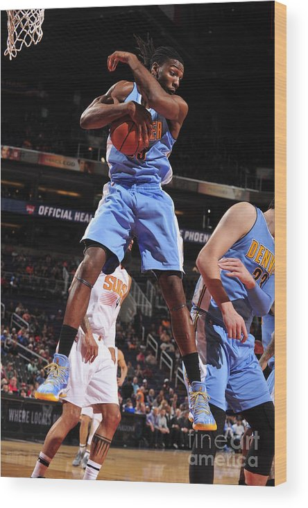 Nba Pro Basketball Wood Print featuring the photograph Kenneth Faried by Barry Gossage