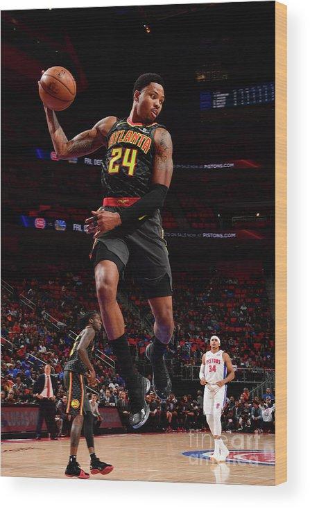 Nba Pro Basketball Wood Print featuring the photograph Kent Bazemore by Chris Schwegler