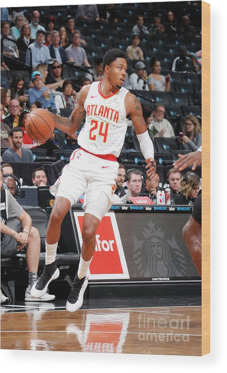 Nba Pro Basketball Wood Print featuring the photograph Kent Bazemore by Nathaniel S. Butler