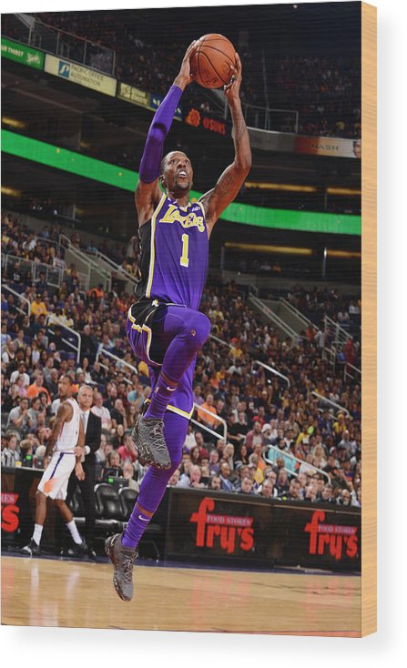 Nba Pro Basketball Wood Print featuring the photograph Kentavious Caldwell-pope by Barry Gossage