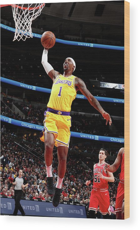 Nba Pro Basketball Wood Print featuring the photograph Kentavious Caldwell-pope by Nathaniel S. Butler